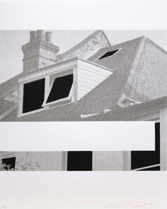 "Andrew Curtis. Suburban Monochromes 1 2013. 5 layer screenprint 42 cm x 33.7 cm. Edition of 25. Contemporary art screenprint - ""For Suburban Monochromes 1 I have reconfigured an image from a 1970′s Daily Mail architectural guide by eliminating text and painting out or on the windows""... More here: http://invisibleprintstudio.co.uk/product/andrew-curtis-suburban-monochromes/"