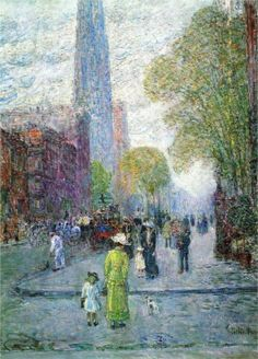 Cathedral Spires, Spring Morning, 1900 Childe Hassam