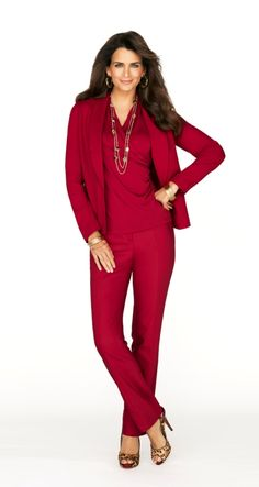 The New Match Set: Stunning in head-to-toe scarlet. #9to5abulous  #WildAbout30 #chicos