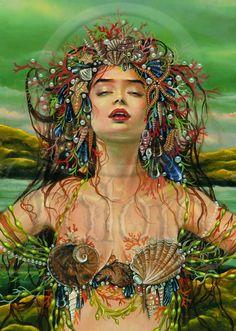"Sea Tangle Mermaid Print A4 (8 1/4"" x 11 3/4"") Signed by Maxine Gadd via Etsy"