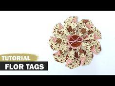 DIY | Flor de papel feita com tags | Tutorial | PAP - YouTube