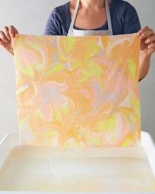 Easy Marbling Tutorial + Martha Stewart Living Giveaway - Flax & Twine