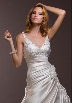 satin-v-neck-a-line-sexy-wedding-dress[1]#wedding #dress