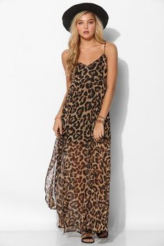 Leopard print maxi | Urban Outfitters | Pretty Little Liars