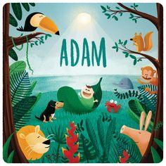 geboortekaartje Adam - door Nozzman
