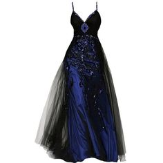 Amazon.com: Amazon Fashion ❤ liked on Polyvore featuring dresses, gowns, vestidos, masquerade ball gowns, blue gown, evening gowns, blue evening gown e blue dress