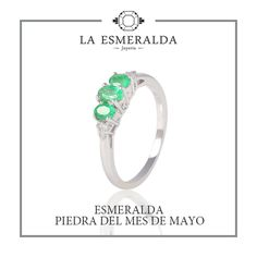 Anillo de Oro Blanco con Esmeralda y Diamantes Jewelry Rings, Engagement Rings, Wedding, White Gold Rings, Earrings, Necklaces, Bracelet, Solitaire Ring, Sapphire