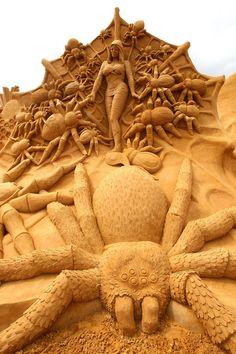 Sand Sculpture  -  International Sand Sculpting Artists Open Annual Exhibition  -  #SandSculptures