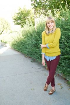 styling maroon pants