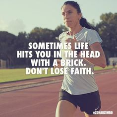 Sometimes life hits you in the head with a brick. Don't lose faith. Photography: Shavit Tzuriel #ZoharZimro #DailyMotivation #Running #Olympics #Quotes #Nike #NikeRunning #Powerbar