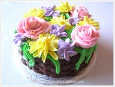 INSTRUCTIONS FOR ALL BUTTERCREAM FLOWER CAKES