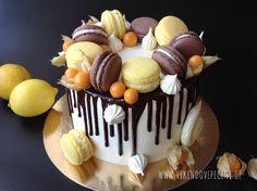 VÍKENDOVÉ PEČENÍ: Citronový stékaný dort Cheesecake, Cupcakes, Pizza, Food, Lemon, Cupcake, Cheese Cakes, Eten, Cupcake Cakes