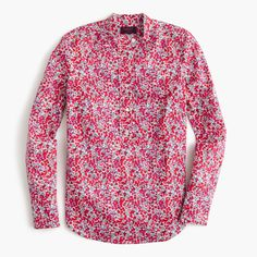 J.Crew Mother's Day Shop: women's ruffle popover shirt in Liberty Art Fabrics Wiltshire print.