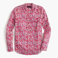 J.Crew Mother's Day Shop: women's ruffle popover shirt in Liberty Art Fabrics Wiltshire print.