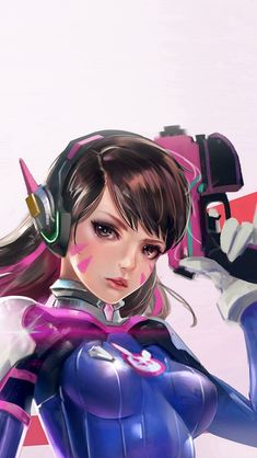 Overwatch Diva Cute Game Art Illustration #iPhone #5s #wallpaper