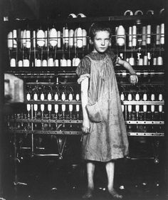 1910 - Addie Laird, 12-yr-old spinner in cotton mill By Lewis Hine