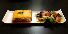 Lasagne with a side salad.