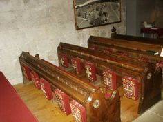 Bolton Abbey Church of St. Mary & St. Cuthbert Pews & Needlepoint Kneelers by DominusVobiscum, via Flickr