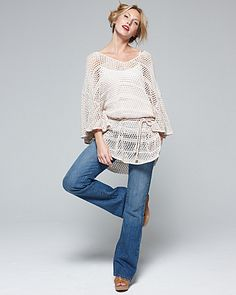 I never thought of wearing a crochet coverup as a top. But I'll be on the lookout for one now :)