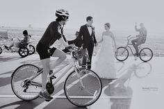 You can never have too many bikes around as this gorgeous Casa Del Mar wedding proves!