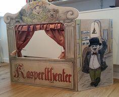 Puppentheater/+Kasperletheater+Handarbeit+(Unikat)+von+Atelier+Grün+auf+DaWanda.com