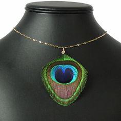 Latest Peacock Feather Necklace www.jewellery.ozyle.com