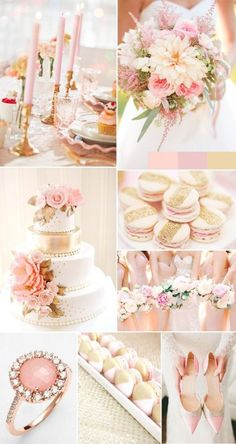 Pink and rose gold makes a beautiful wedding colour palette.
