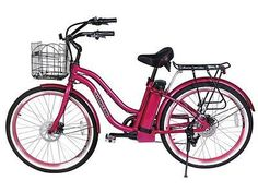 The Malibu Beach Cruiser is a Step Through Lithium Battery powered Electric Bicycle, running on a 300 Watt rear hub motor. Made with all top of the line compone