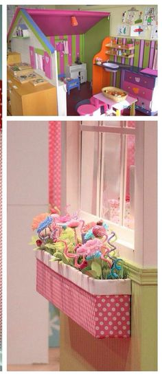 Flower box for playhouse Daycare Rooms, Home Daycare, Classroom Setting, Classroom Decor, Prop Box, Diy Bebe, Corner House, Dramatic Play, Preschool Classroom