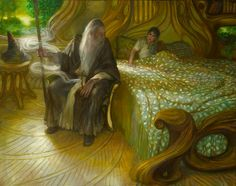 Rivendell - Recovery by DonatoArts. Oil on panel.