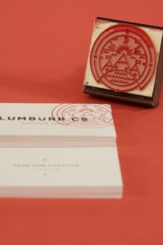stamp your business cards for a touch of handmade | Lumbürr co. by Ben Johnston, via Behance