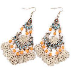 Bohemia Bazaar Dangle Earrings - Orange