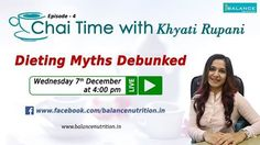 https://www.facebook.com/events/ Get ready for hearing Khyati Rupani once again!! This time we plan to debunk all myths regarding dieting! So put down all your questions to us in the comments section so we can answer those for you :)