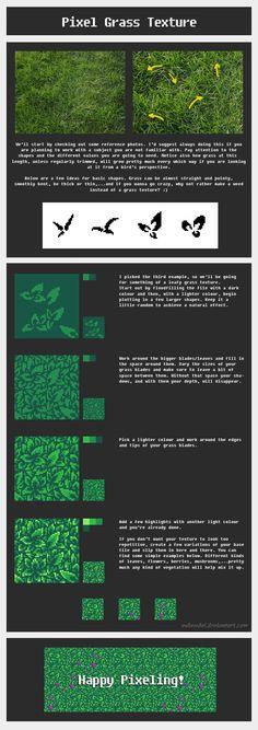 Tutorial: Pixel Grass Texture by ValaSedai
