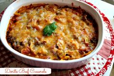 Mommy's Kitchen - Home Cooking & Family Friendly Recipes: Ma maw's Mexican Casserole aka {Dorito Beef Casserole}