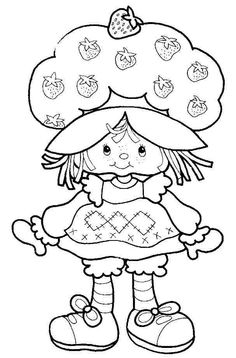 vintage+strawberry+shortcake+coloring+pages | Return to Strawberry ...