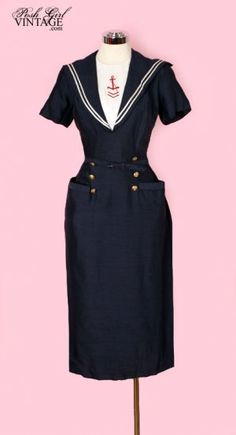 The quintessentially perfect 1950s sailor inspired wiggle dress.