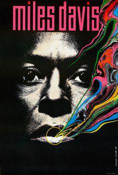 Miles Davis  Miles Davis Poster (1989) Designed byRoslaw Szaybo