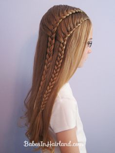 Double 1 Sided French Braids