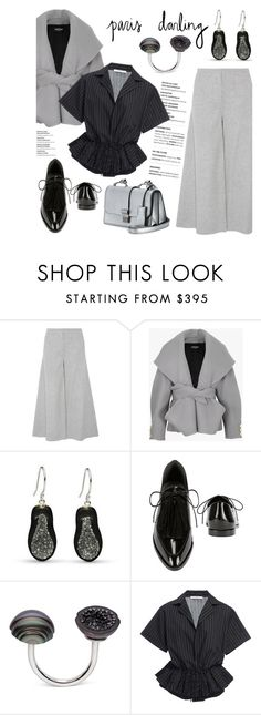 """""""I Love Paris In the Fall"""" by littlehjewelry ❤ liked on Polyvore featuring Theory, Balmain, Loeffler Randall, Tome, Miu Miu, paris, contestentry, pearljewelry, littlehjewelry and fallgetaway"""