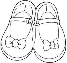Free Girls Shoes Coloring Pages to Printable Coloring Girls Shoes for Kids to Print Free Pictures Machine Embroidery Applique, Hand Embroidery Patterns, Coloring Pages For Girls, Coloring Books, Kid Shoes, Girls Shoes, Shoe Template, Quiet Book Patterns, Card Drawing