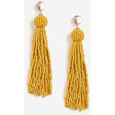 Topshop Seedbead Tassel Drop Earrings (415 HNL) ❤ liked on Polyvore featuring jewelry, earrings, yellow, tassel drop earrings, yellow earrings, tassle earrings, metal jewelry and drop earrings
