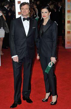 Livia Firth wearing Vintage Cartier 1907 Tassel Earrings at 2012 BAFTAs