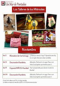 """Un Mar de Puntadas: Calendario de los """"Talleres de los Miércoles"""""""