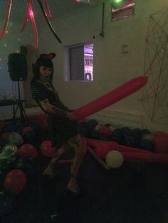 em festa