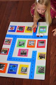 Photo Wall, make adaptations to use it in the classroom. Maybe take pictures of things in the hallway or on the way into the school building, or on the playground and then put it in a center and all students to create their own map.