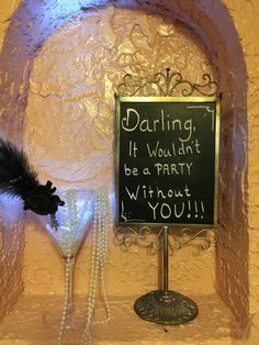 """Decor for our """"goodbye roaring 20s"""" birthday party we threw for friends. 1920s. Great Gatsby."""