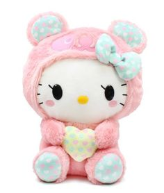 I found 'Sanrio Hello Kitty Panda Plush Doll - Pink Panda' on Wish, check it out! get some yourself some pawtastic adorable cat apparel! Sanrio Hello Kitty, Peluche Hello Kitty, Kawaii Plush, Cute Plush, Kawaii Cute, Kawaii Stuff, Stuffed Animal Cat, Stuffed Animals, Pink Panda