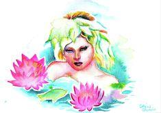 Bath Paint, Relaxing Bath, Watercolors, Aurora Sleeping Beauty, Wall Art, Disney Princess, Disney Characters, Cards, Painting