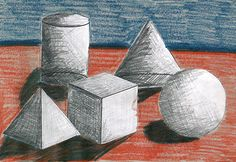 Drawing In Learning to Shade Shapes With Fifth Graders - art projects for kids Art Lessons For Kids, Art Lessons Elementary, 7th Grade Art, Shape Art, Shape And Form, Math Art, School Art Projects, Elements Of Art, Art Lesson Plans